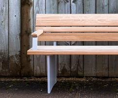 Norfolk bench in FSC European oak and cast aluminium
