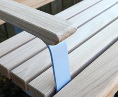Norfolk bench standard armrest