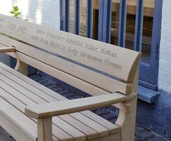 Chico long bench in FSC European oak