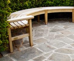 Bespoke curved Chico backless bench