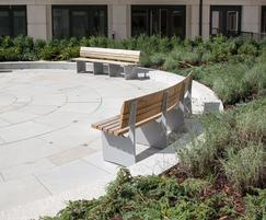 Bespoke curved benches - Chelsea