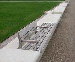 Bespoke wall-top benches - Bexhill