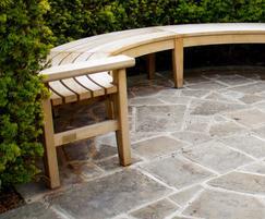 Bespoke curved backless Chico bench - Kennington Park