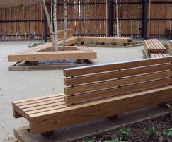Bespoke bench seating - Woodland Trust HQ