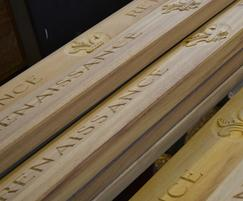 Hand carved inscriptions