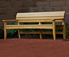 Carved Chico bench In FSC E.Oak Hereford Cathedral