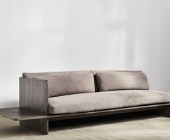 Benchmark Muse Sofa Ash DarkGreyOiled Leather 12332 210