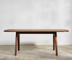 Sage dining table - walnut, designed by David Rockwell