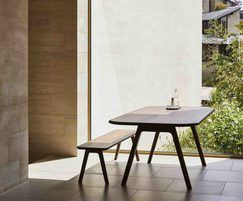Sage Collection - dining table and bench seating