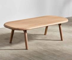 Sage oblong coffee table in oak