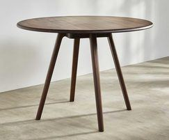 Sage high huddle round meeting table in walnut