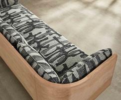 Sage low sofa with 100% wool fabric