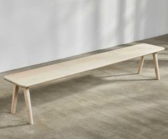 Sage bench in sycamore
