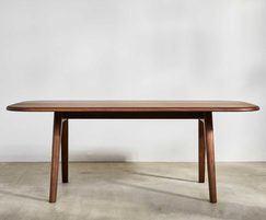 Sage rectangular meeting table in walnut