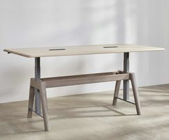 Sage sit-stand meeting table in stand position