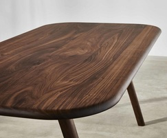 Sage rectangular dining table in walnut