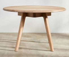 Sage round cafe table in oak
