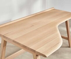 Winton streamlined office desk with curving front edge
