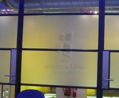 Frostbrite window film on glass partition