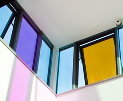 Rainbow coloured window films