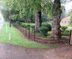 5-bar continuous estate fencing alongside a road