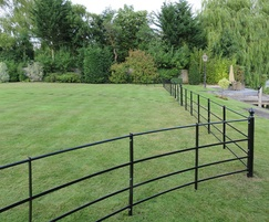 Traditional style 4-bar estate fencing in Henley