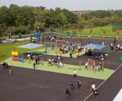 Play area at one of the Uxbridge schools