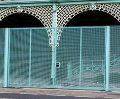 'Brighton Blue' Lockmaster double-leaf swing gates