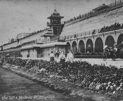 Old image of Madeira Terrace, Brighton