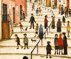 'A Street in Stockport – Crowther Street' by LS Lowry