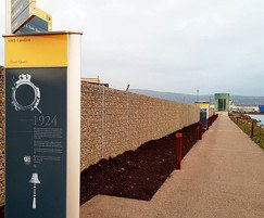 Natural Stone Fence at the Titanic Walkway in Belfast