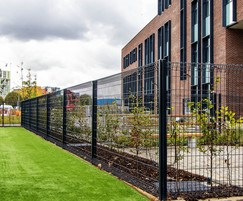 Rotop rolled mesh school fencing system
