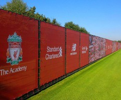 Dulok Sports fencing with privacy screens, Liverpool FC