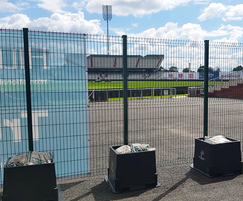 Temporary fencing will not blow over