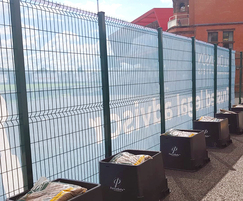 Temporary fencing for sports ground