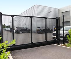Slidemaster sliding gate for car dealership