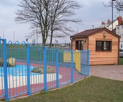 Kiosk at Water Play Area