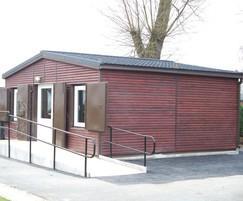 Timber Clad Bowls Pavilion with Decra Roof Tiles