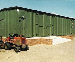 Highly secure modular garage
