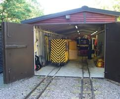 Rolling stock shed - highly secure, vandal resistant