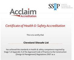 Cleveland Sitesafe: Acclaim Accreditation for Cleveland Sitesafe
