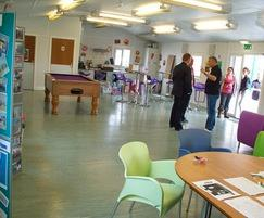 Youth Unit's open plan social area