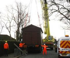 Public toilets being installed