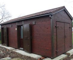Fully fitted-out public toilets