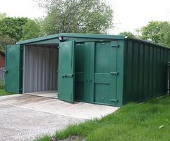 Secure storage at cemetery maintenance depot