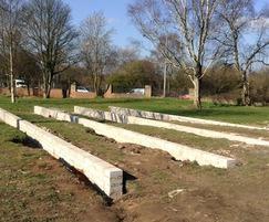 Cemetery maintenance depot