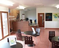 RSPB St Aidan's Visitor Centre - interior view