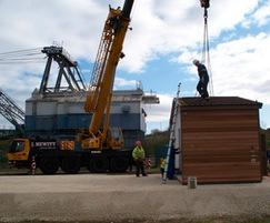 RSPB St Aidan's Visitor Centre - offloading