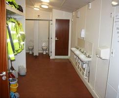 Toilets - landscape depot office and welfare building