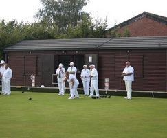 Portable pavilion for bowls club